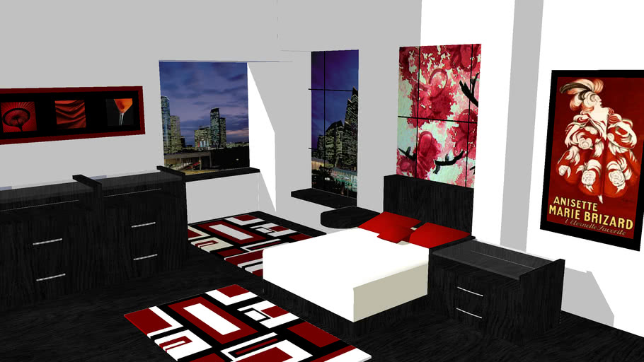 Red and Black Room