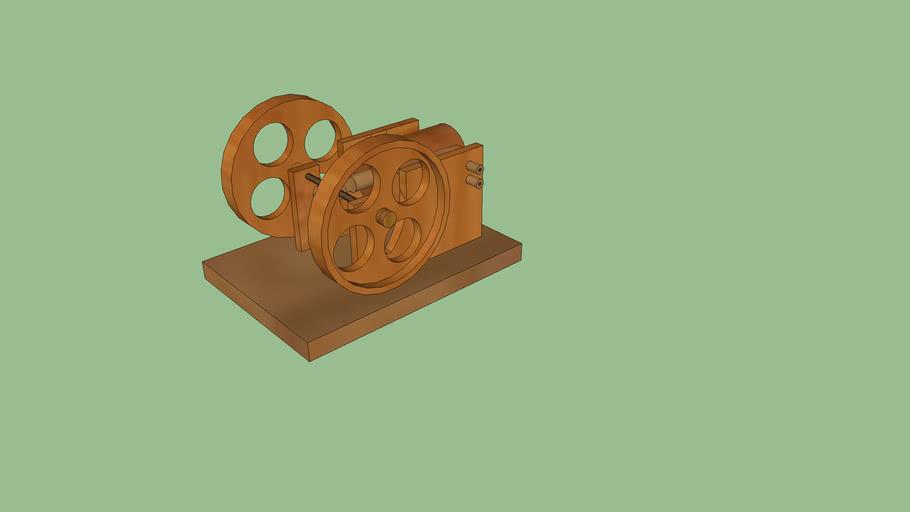 maquina de vapor de madera,