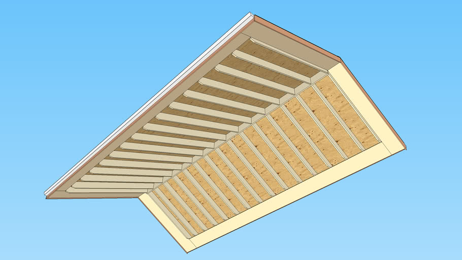 Angle Soffit with Rafter Roof