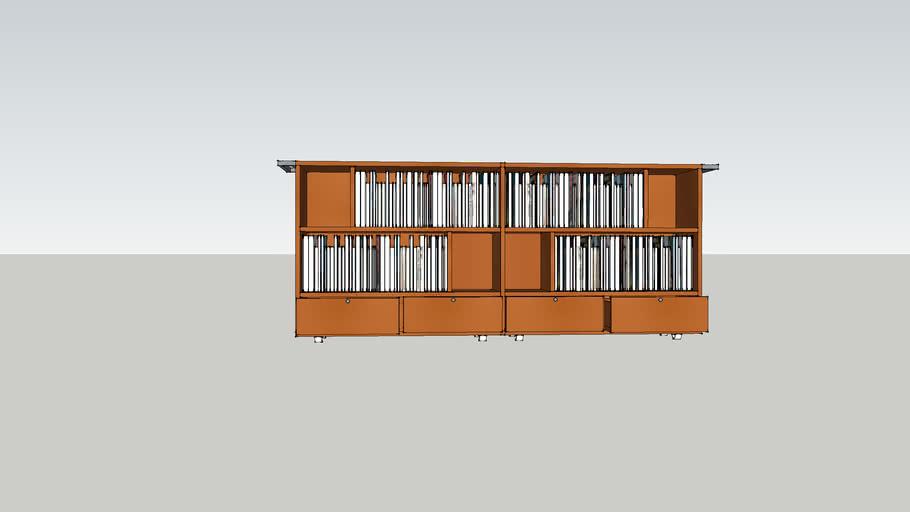 Rolling Book Shelf