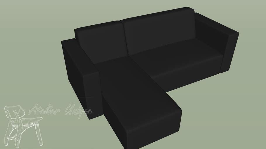 Sofá modelo Gio com chaise - Tok Stok