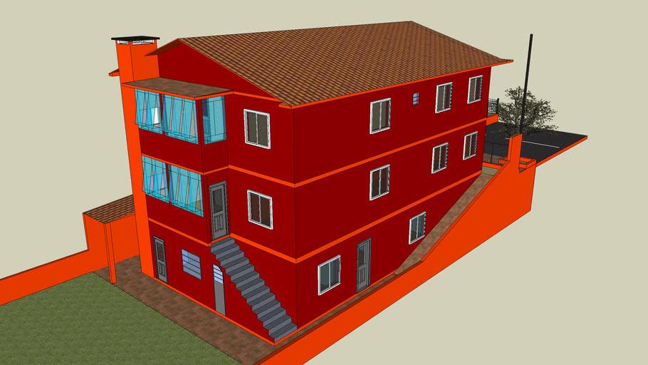 Casa 3 pisos com sala comercial