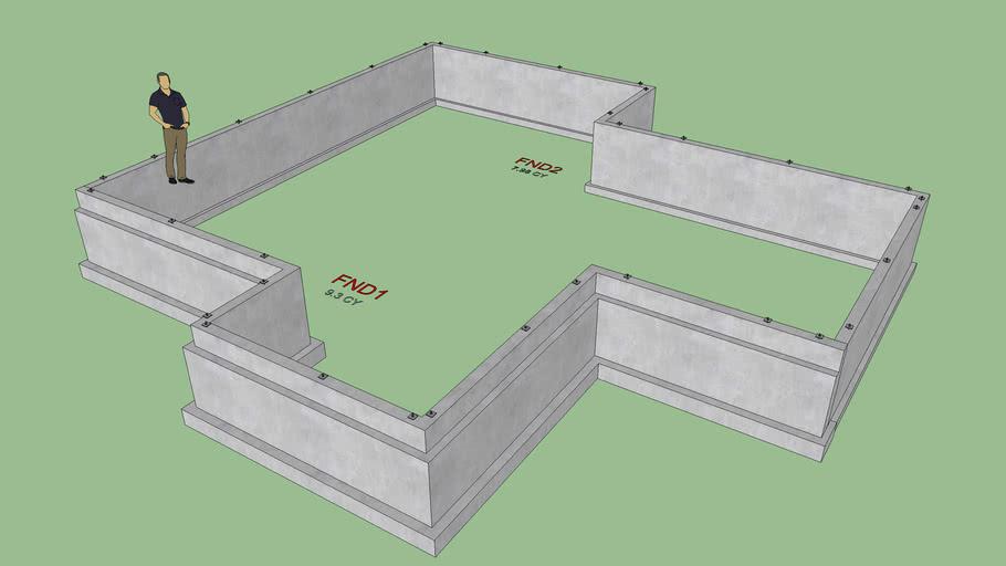 Stemwall Foundation with Brick Ledges
