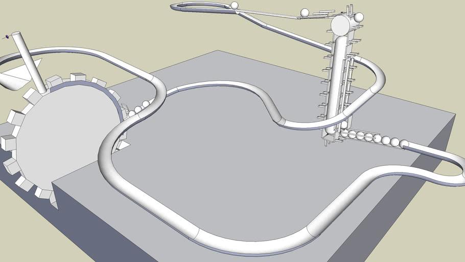Ball Track V2.0  (SketchyPhysics)