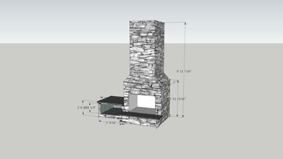 Outdoor FIreplace model by Fireside Outdoor Kitchens & Grills