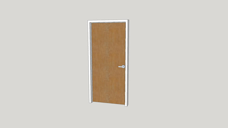 Commercial Wood Door - 36 x 82 - Left Swing
