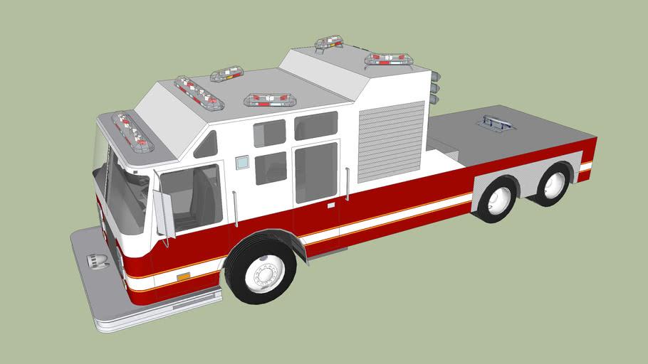 Tiller Ladder Fire Truck (without trailer)