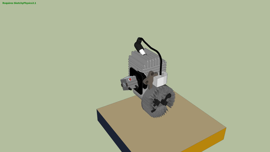 Motor de Motosierra (Sketchy Physics 3.0)