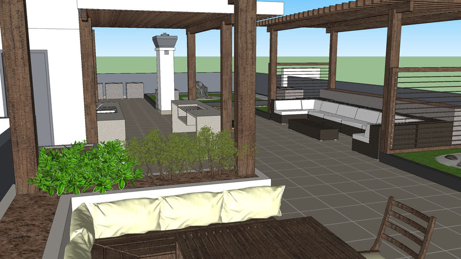 Terraza Edificio Exterior 3d Warehouse