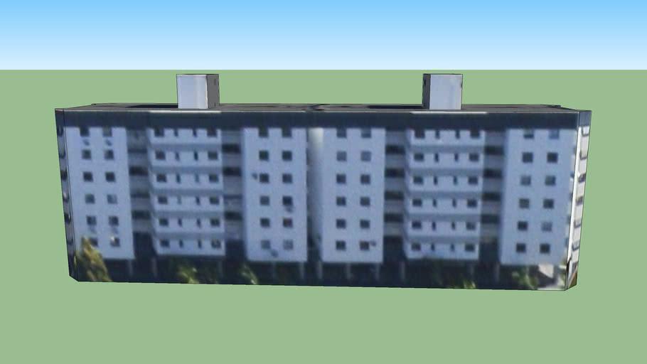 Edificio del bloque A en Brasilia, Brasil