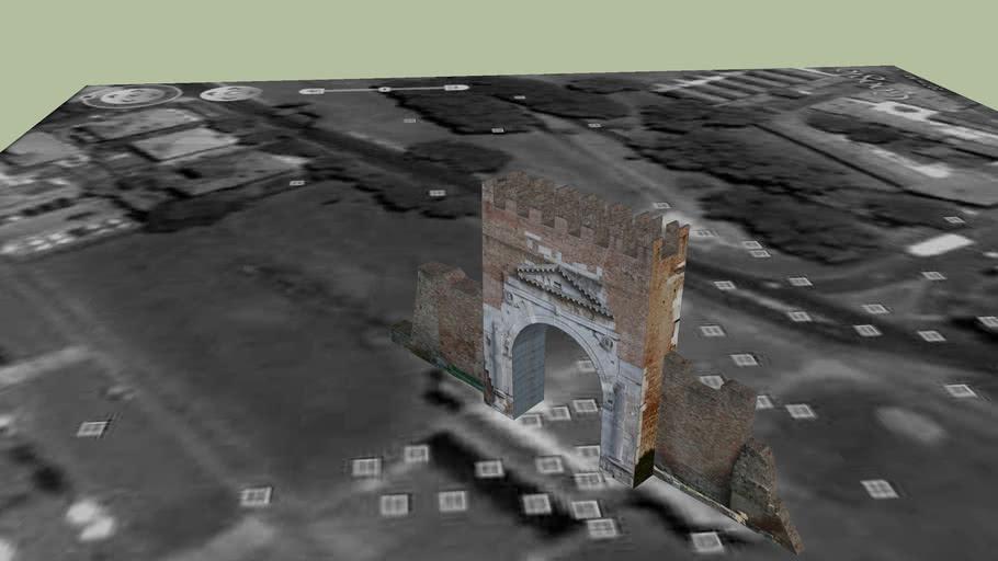 Arco di Augusto, Rimini. - Augustus's arch, Rimini.