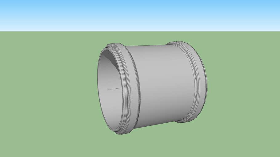 sewage pipe hulpstuk pvc steekmof 125