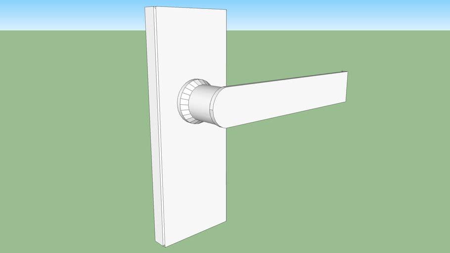 door handle finished