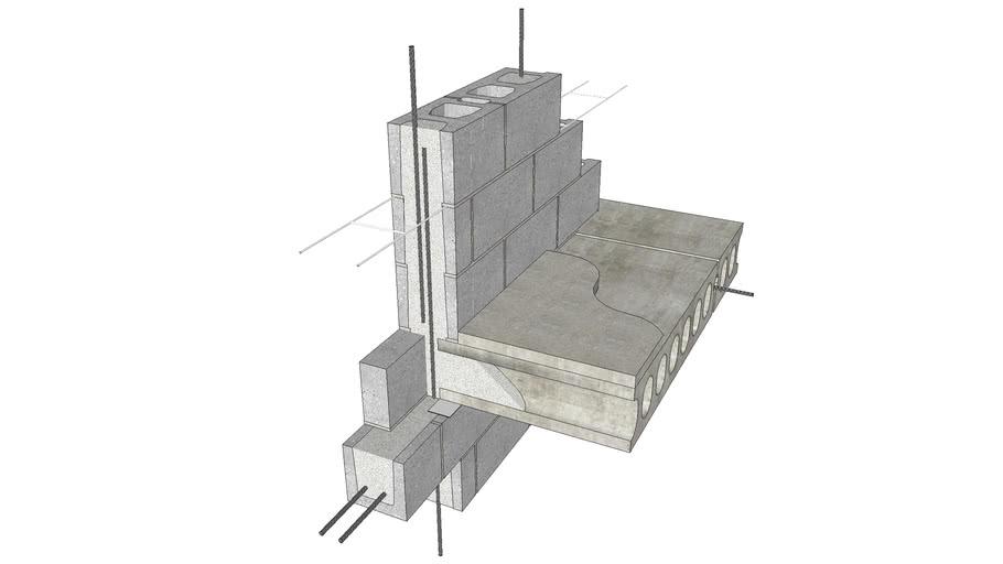 Plank at Bearing Wall - Exterior Wall