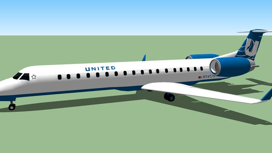 United Express ERJ-145LR H837HK.