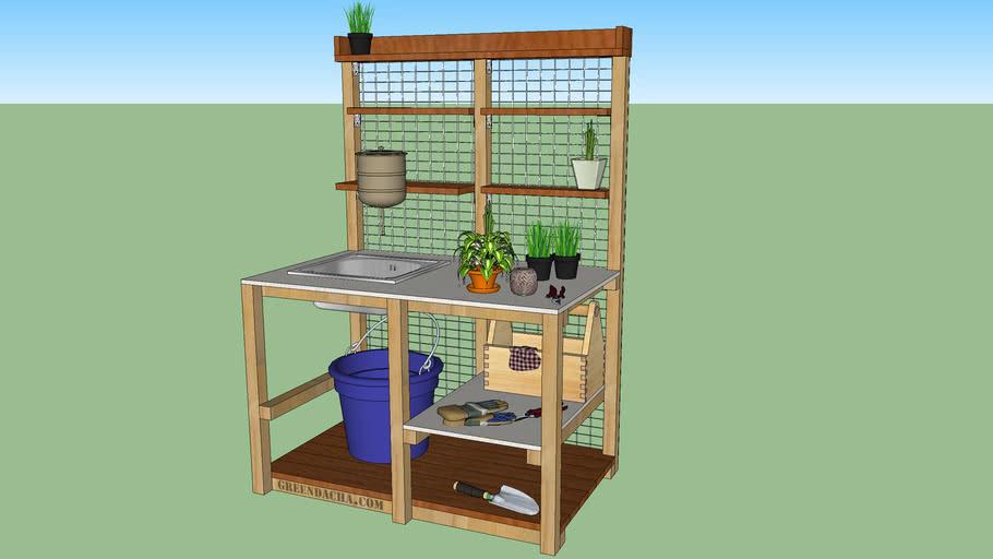 Стол для рассады (Potting bench with sink)