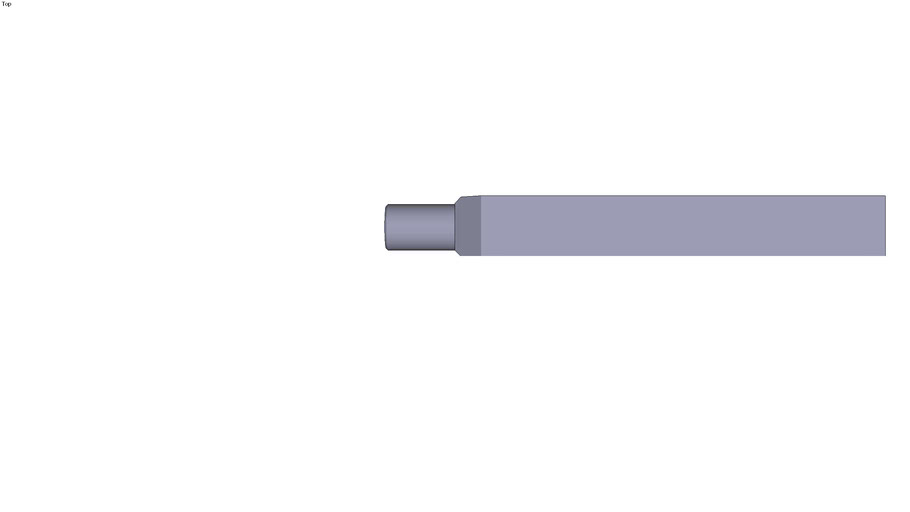 Round end fork clamp - 250 x 50 x 30 mm