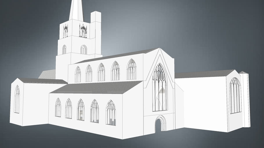 Burford Church: Animated Construction Sequence