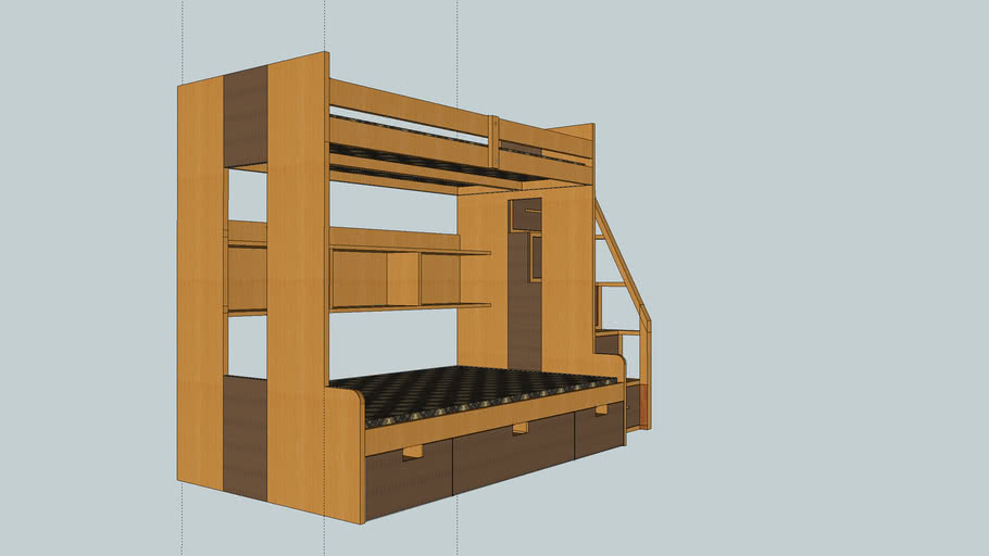 Bunkbed with staircase