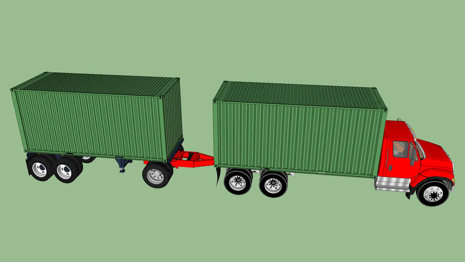 Container straight truck combo
