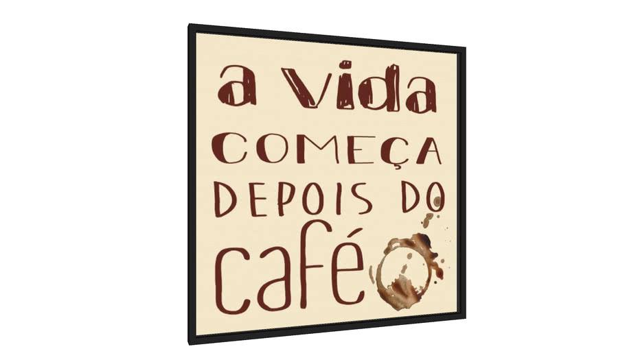 Quadro Vida depois do café - Galeria9, por Vanessa Volk