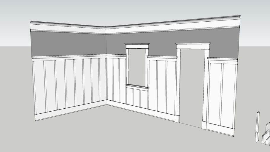 WindsorONE Craftsman Style Room with 1x2 Board & Batten Wainscoting