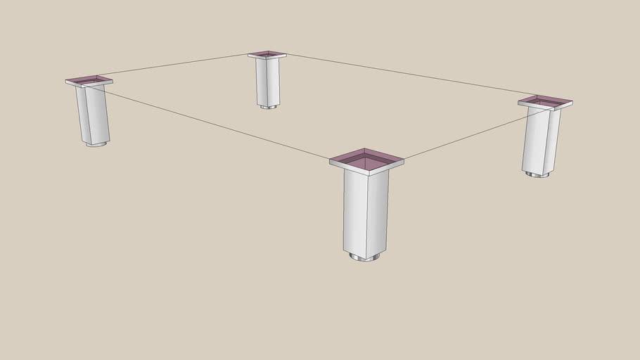 BESTA legs square 60x40