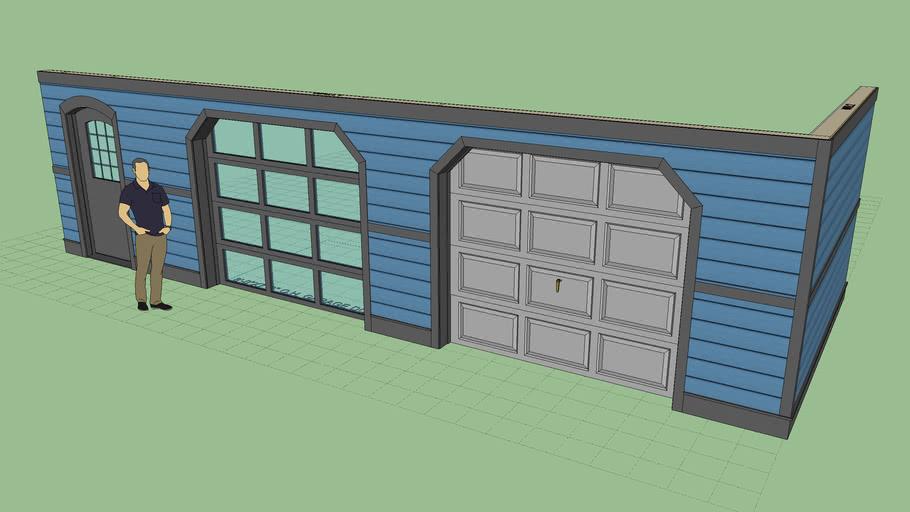 Dutch Corners with Garage Doors