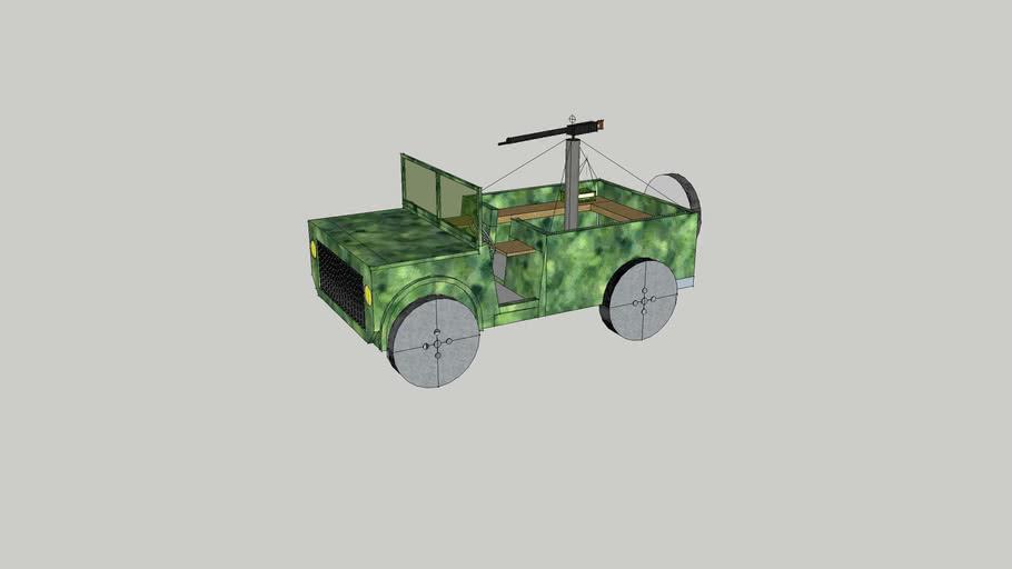 jeep met mitrailleur