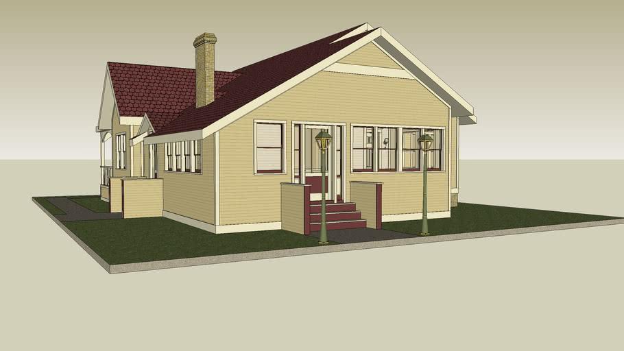Vintage One Story Americana Home