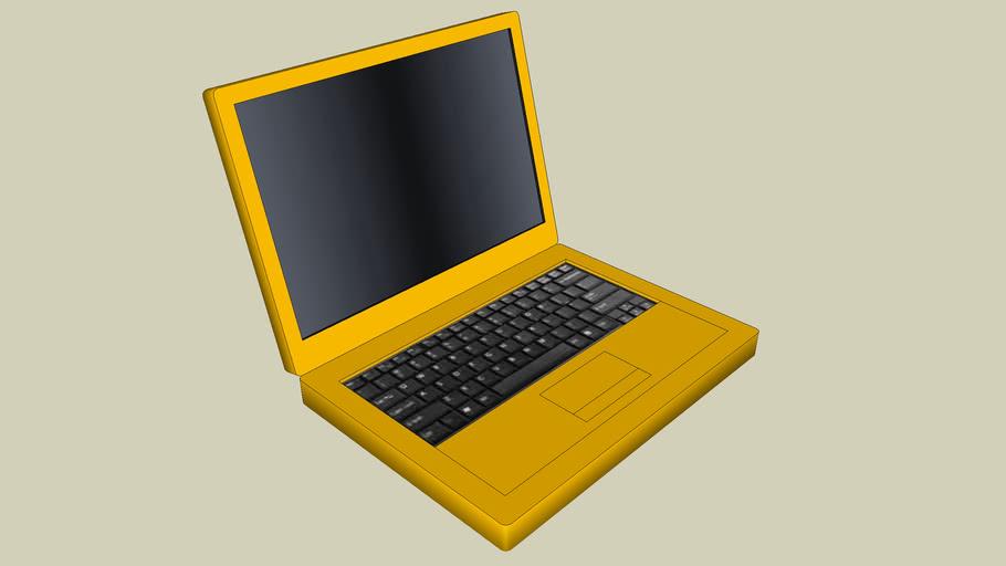 Yellow/Gold Laptop