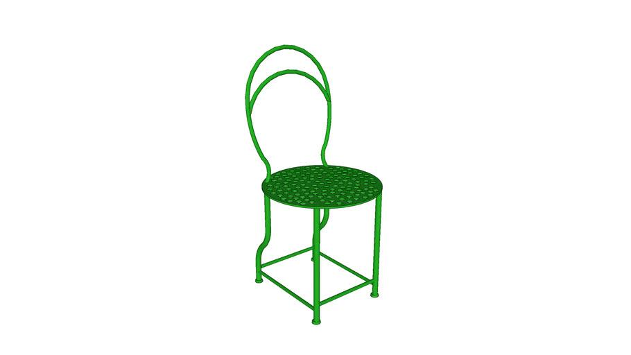 silla de hierro jardín