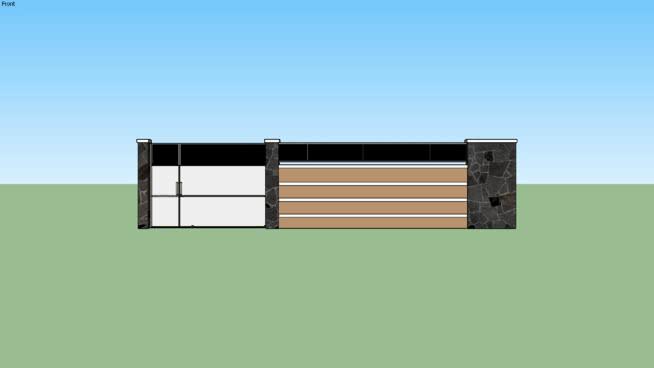 Pagar Simpel Minimalis (Minimalist Simple Fence) | 3D Warehouse