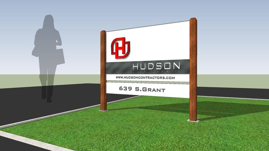 Yard Sign. HUDSON Construction Services v.001-01-2
