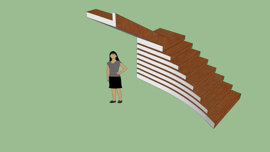 Escalera curva