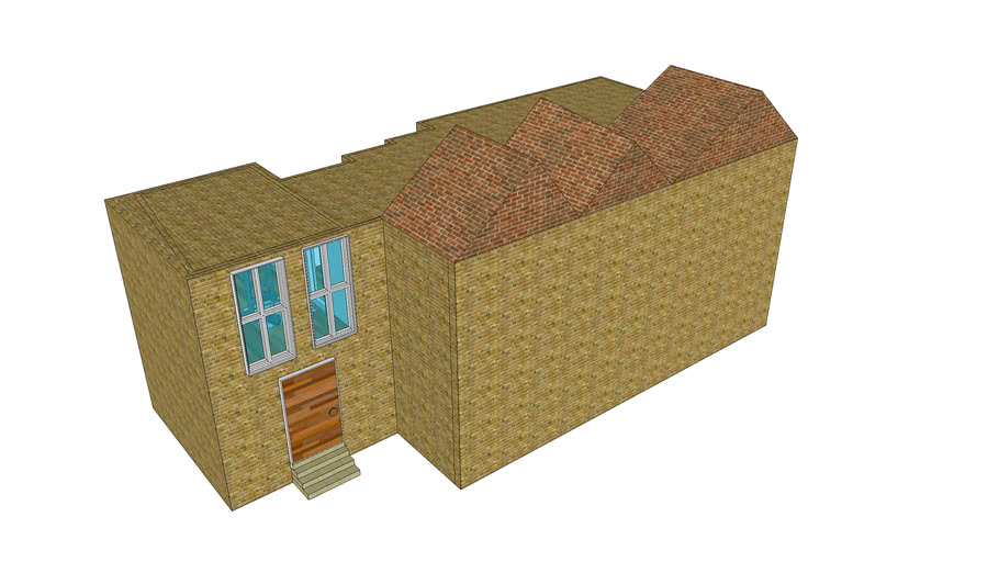 Brick house with interior