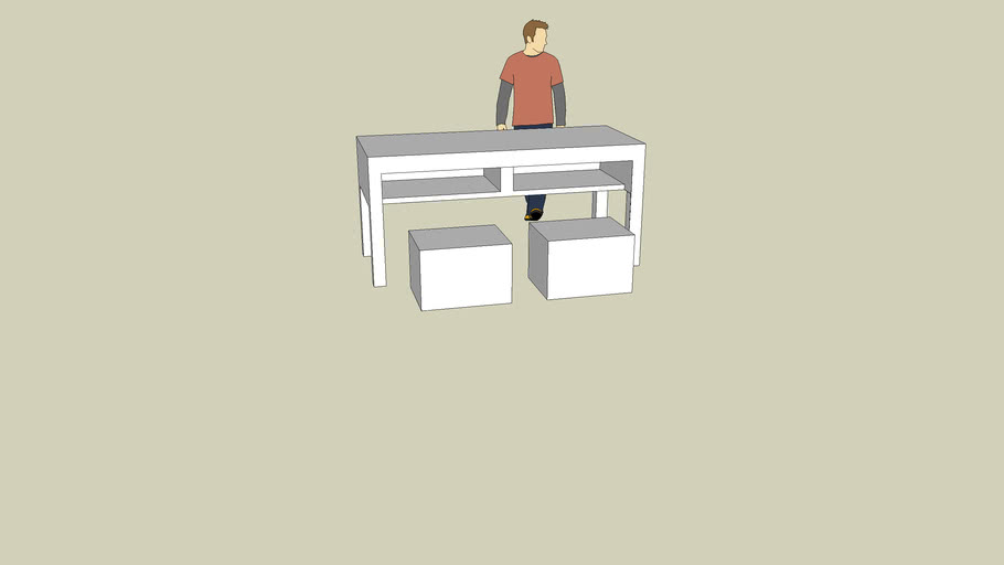 Scaled School Desk and chairs