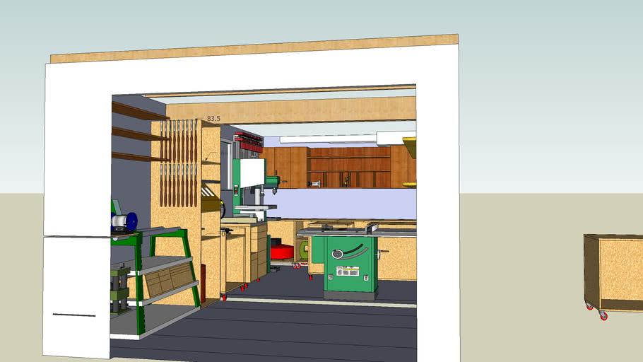 Single Car Garage Work Shop 3d Warehouse