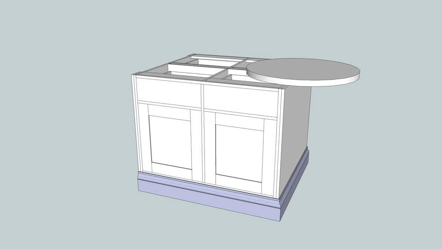 Peninsular kitchen unit