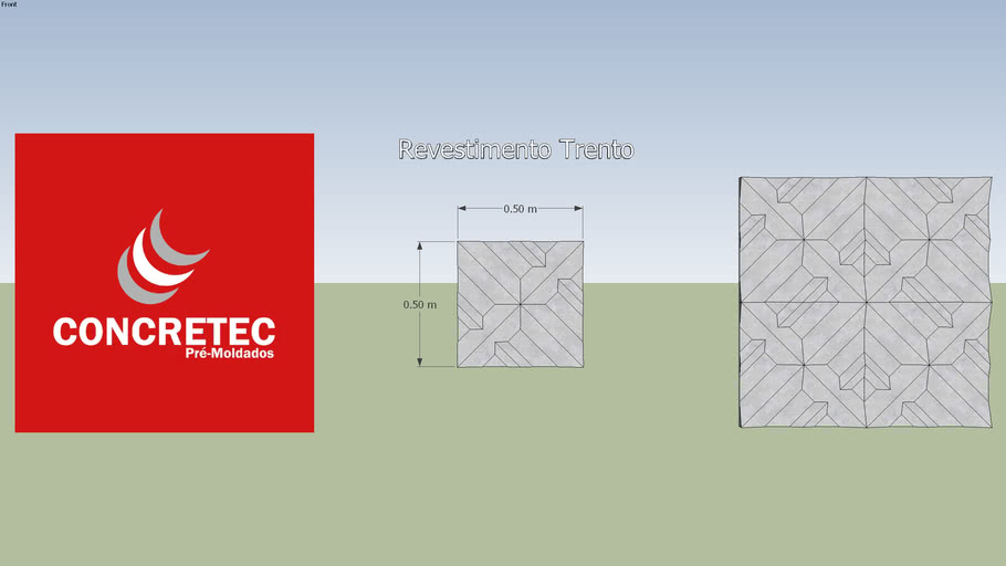 Concretec - Revestimento 3D - Trento