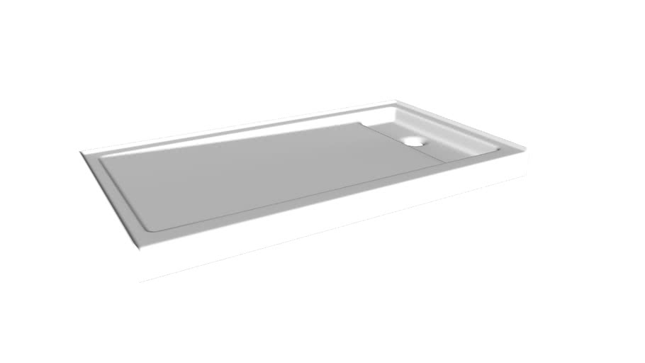 """K-9194 Bellwether(R) 60"""" x 34"""" single-threshold shower base with right offset drain"""