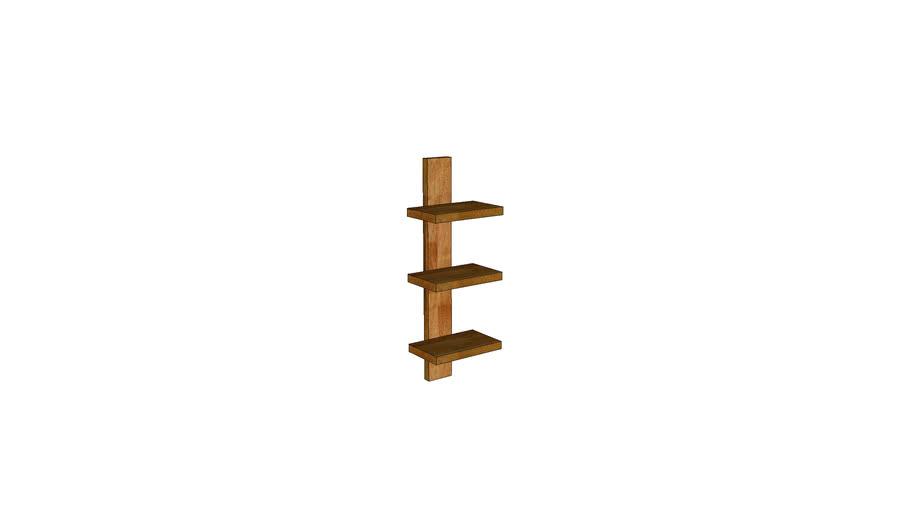 Mondeo Wall Shelf 3-Shelves_Oak