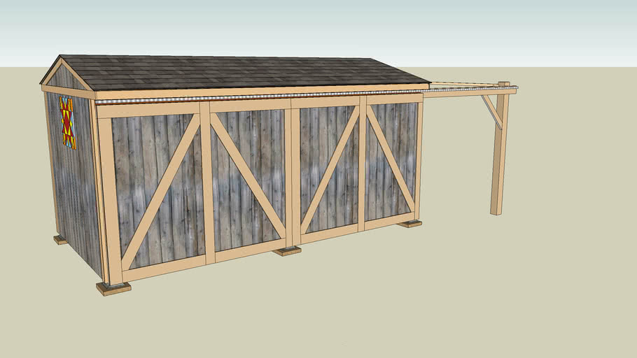 Wood Shed 8x16 Detailed Construction Plans
