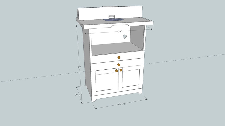 Router Table with storage and dust collection