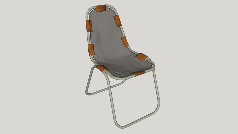 CASUAL METAL CHAIR FOR OUTDOOR OR INDOOR VRAY 2 OR HIGHER RENDER READY