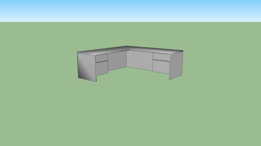 L Shaped Desk (Gray)