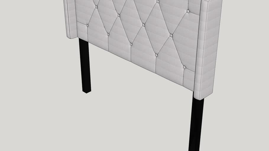 Smyrna Queen Upholstered Wingback Headboard