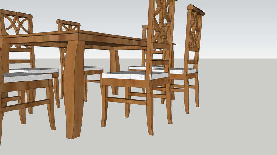 Table With Wooden Chairs (Teak)