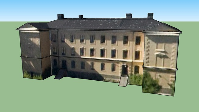 "H-shaped house at school ""Gamla Maria Skola"" in Stockholm, Sweden"