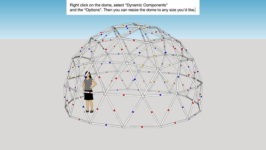 PVC Geodesic Dome Dynamic Component